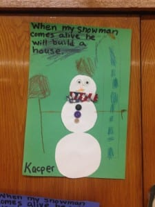 "Literacy and Winter  ""Snowmen at Night"""