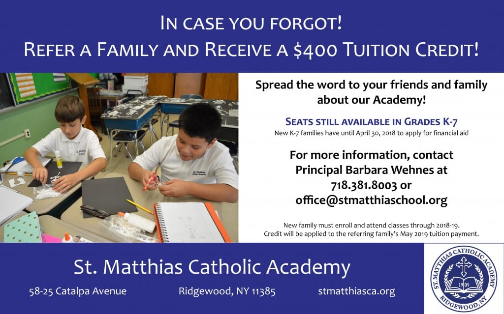 986_St Matthias_Referral Incentive Reminder_02282018